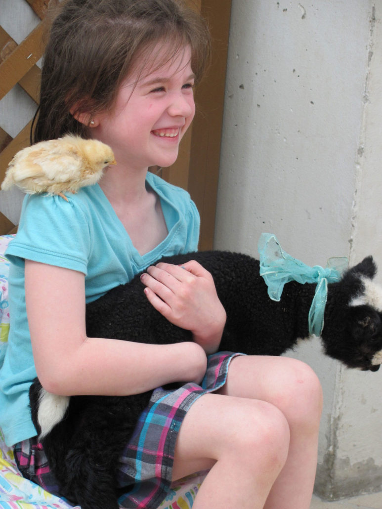 Kid with Animals